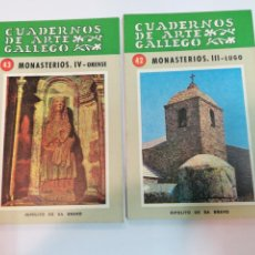 Libros de segunda mano: HIPÓLITO DE SA BRAVO CUADERNOS DE ARTE GALLEGO. MONASTERIOS 4 TOMOS SA2168. Lote 232563480