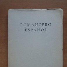 Libros de segunda mano: ROMANCERO ESPAÑOL. ESCUELA SINDICAL. Lote 206959840