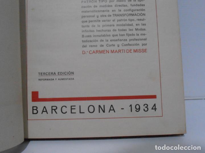Libros de segunda mano: LIBRO CORTE SISTEMA MARTI, CORSES PARA SEÑORAS Y NIÑAS, CARMEN MARTI DE MISSE, 3ª ED BARCELONA 1934 - Foto 3 - 232989010