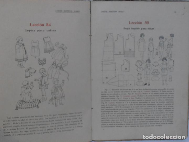 Libros de segunda mano: LIBRO CORTE SISTEMA MARTI, LENCERIA, CARMEN MARTI DE MISSE, CUADRAGESIMA ED BARCELONA 1936 - Foto 7 - 232989517