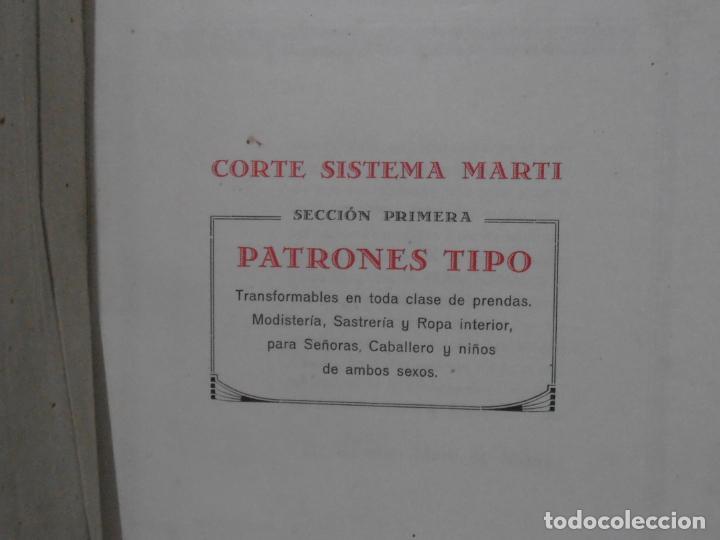 Libros de segunda mano: LIBRO CORTE SISTEMA MARTI, SASTRERIA, CARMEN MARTI DE MISSE, SEXAGESIMA EDICION BARCELONA 1940 - Foto 3 - 232990452