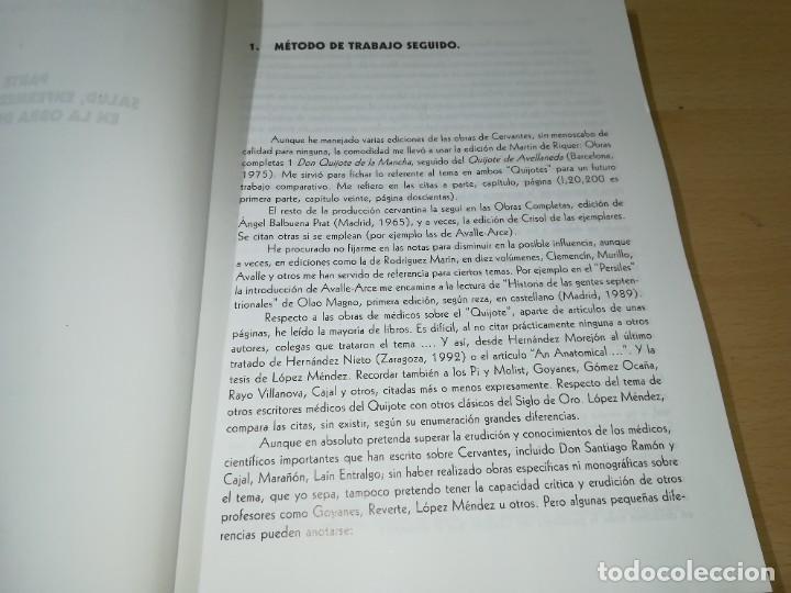 Libros de segunda mano: CERVANTOFOBIA Y CERVANTOFILIA / SALUD, ENFERMEDAD Y MUERTE CERVANTES / ISAIAS MORAGA / AE405 - Foto 6 - 233017985