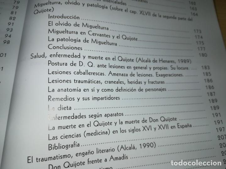 Libros de segunda mano: CERVANTOFOBIA Y CERVANTOFILIA / SALUD, ENFERMEDAD Y MUERTE CERVANTES / ISAIAS MORAGA / AE405 - Foto 14 - 233017985