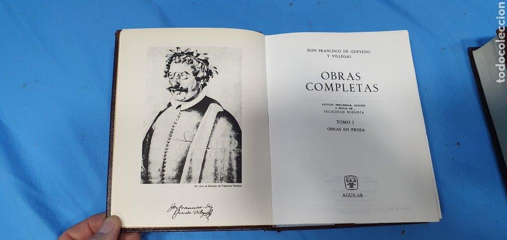 Libros de segunda mano: OBRAS COMPLETAS DE FRANCISCO DE QUEVEDO - VERSO/PROSA 1964/66 - AGUILAR - Foto 10 - 271786158