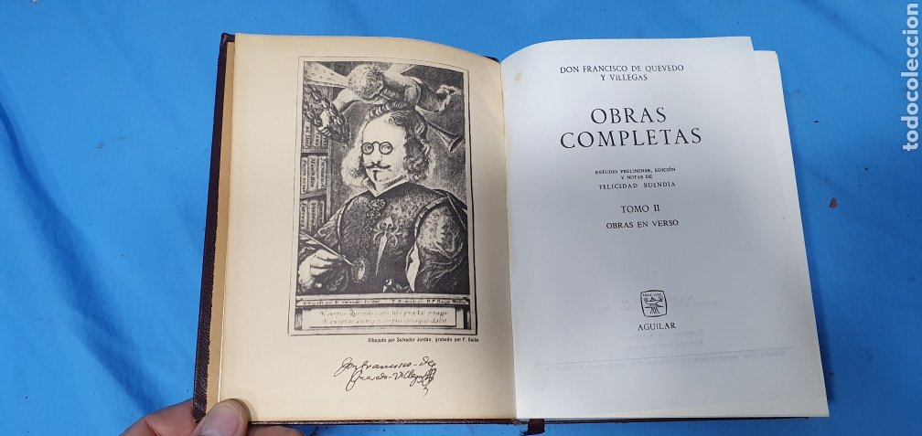 Libros de segunda mano: OBRAS COMPLETAS DE FRANCISCO DE QUEVEDO - VERSO/PROSA 1964/66 - AGUILAR - Foto 13 - 271786158
