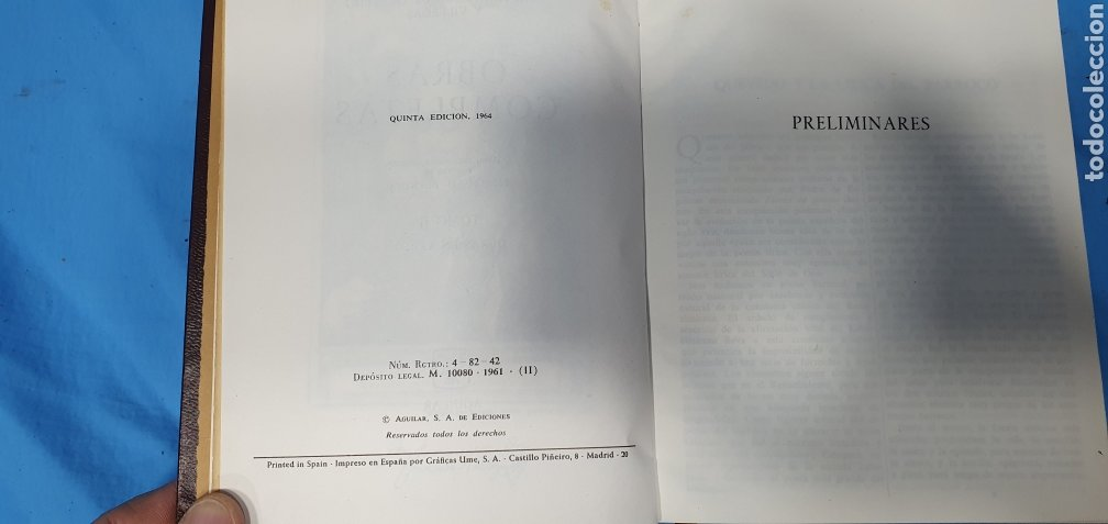 Libros de segunda mano: OBRAS COMPLETAS DE FRANCISCO DE QUEVEDO - VERSO/PROSA 1964/66 - AGUILAR - Foto 14 - 271786158