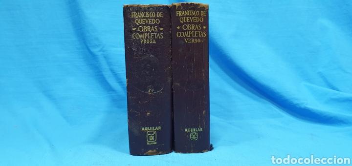 OBRAS COMPLETAS DE FRANCISCO DE QUEVEDO - VERSO/PROSA 1964/66 - AGUILAR (Libros de Segunda Mano (posteriores a 1936) - Literatura - Otros)