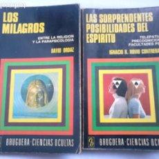 Libros de segunda mano: LOS MILAGROS (DAVID ORDAZ) + LAS SORPRENDENTES POSIBILIDADES DEL ESPÍRITU (IGNACIO R. ROMO). Lote 233203300
