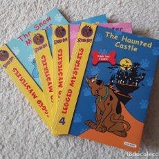 Libros de segunda mano: LOTE DE 4 LIBROS DE SCOOBY-DOO. LEGGED MYSTERIES. TAPA BLANDA. LEER ANUNCIO.. Lote 233384155