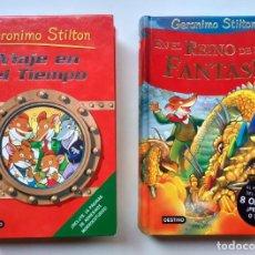 Libros de segunda mano: LOTE DE 2 LIBROS DE GERONIMO STILTON (TAPA DURA). EDITORIAL DESTINO. LEER ANUNCIO.. Lote 233385425
