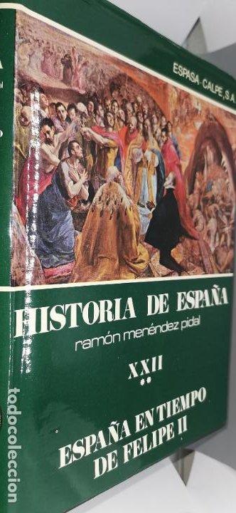 ESPAÑA EN TIEMPO DE FELIPE II. TOMO XXII (2 VOLS). COLECCIÓN HISTORIA DE ESPAÑA DE MENÉNDEZ PIDAL. (Libros de Segunda Mano - Historia - Otros)