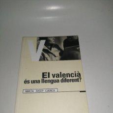 Libros de segunda mano: EL VALENCIÀ ÉS UNA LLENGUA DIFERENT? - CUENCA, MARIA JOSEP. Lote 233764325