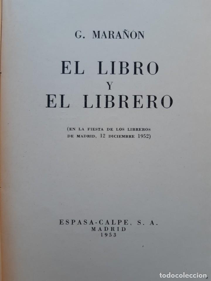Libros de segunda mano: El libro y el librero Espasa-Calpe 1953 - Foto 3 - 234035410