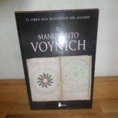 Libros de segunda mano: EL MANUSCRITO VOYNICH EL LIBRO MAS MISTERIOSO DEL MUNDO - ILUSTRADO EN COLOR .DISPONGO DE MAS LIBROS. Lote 234175060