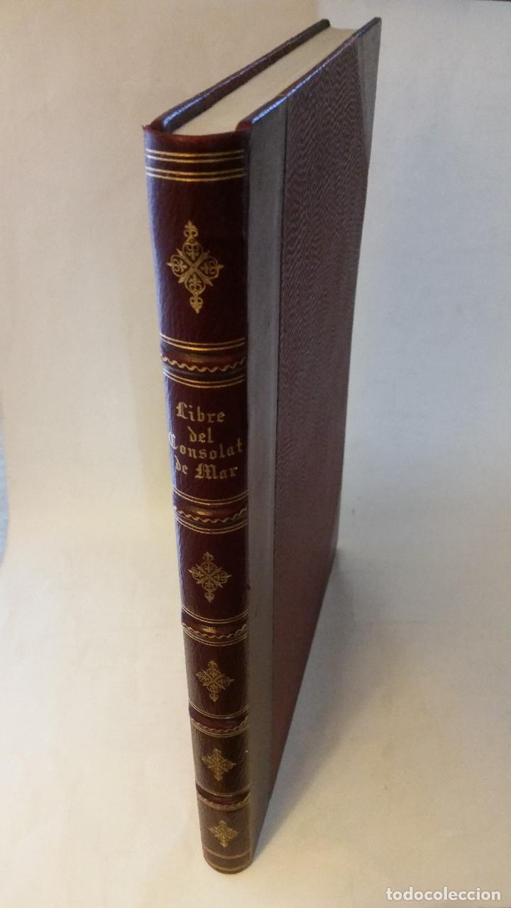 Libros de segunda mano: 1950 - Libre del Consolat de Mar. Reproducción del manuscrito de Valencia - ENCUADERNACIÓN - Foto 2 - 234568500
