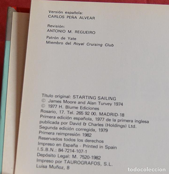 Libros de segunda mano: INICIACIÓN A LA VELA - JAMES MOORE - ALAN TURVEY - BLUME - Foto 3 - 234903450