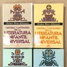 Libros de segunda mano: HISTORIA Y ANTOLOGÍA DE LA LITERATURA INFANTIL UNIVERSAL. CARMEN BRAVO-VILLASANTE. 4 TOMOS. Lote 234943620