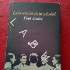 Libri di seconda mano: LA INVENCION DE LA SOLEDAD PAUL AUSTER TAPA DURA EDHASA CM9. Lote 234964130