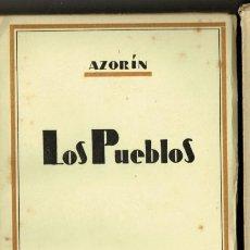 Libros de segunda mano: AZORÍN LOS PUEBLOS BIBLIOTECA NUEVA 1943. Lote 235022310