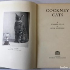 Libros de segunda mano: COCKNEY CATS. - TUTE, WARREN; FONTEYN, FELIX.. Lote 235038395