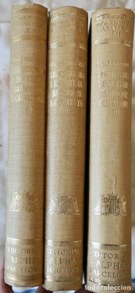 ARQUITECTURA I ESCULTURA BARROQUES A CATALUNYA - CÈSAR MARTINELL - 3 VOL- EXEM.469-1959/61/63 (Libros de Segunda Mano - Bellas artes, ocio y coleccionismo - Otros)