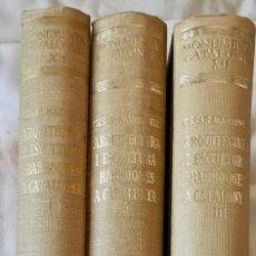 Libros de segunda mano: ARQUITECTURA I ESCULTURA BARROQUES A CATALUNYA - CÈSAR MARTINELL - 3 VOL- EXEM.469-1959/61/63. Lote 235130375