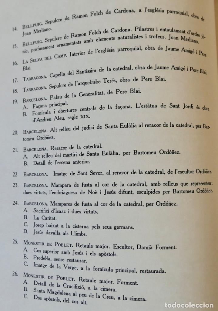 Libros de segunda mano: ARQUITECTURA I ESCULTURA BARROQUES A CATALUNYA - CÈSAR MARTINELL - 3 VOL- EXEM.469-1959/61/63 - Foto 6 - 235130375