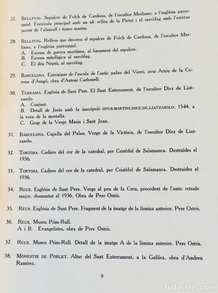 Libros de segunda mano: ARQUITECTURA I ESCULTURA BARROQUES A CATALUNYA - CÈSAR MARTINELL - 3 VOL- EXEM.469-1959/61/63 - Foto 7 - 235130375