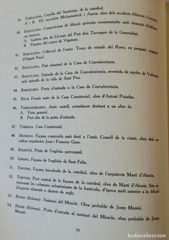 Libros de segunda mano: ARQUITECTURA I ESCULTURA BARROQUES A CATALUNYA - CÈSAR MARTINELL - 3 VOL- EXEM.469-1959/61/63 - Foto 8 - 235130375