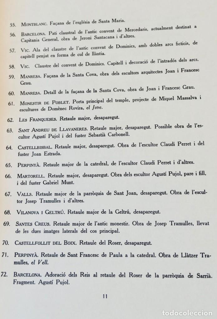 Libros de segunda mano: ARQUITECTURA I ESCULTURA BARROQUES A CATALUNYA - CÈSAR MARTINELL - 3 VOL- EXEM.469-1959/61/63 - Foto 9 - 235130375