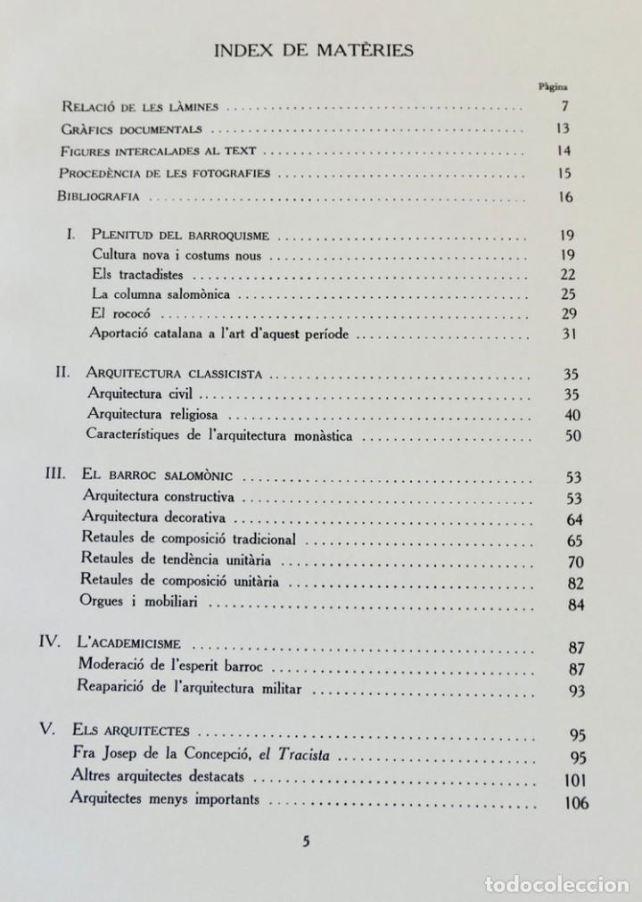 Libros de segunda mano: ARQUITECTURA I ESCULTURA BARROQUES A CATALUNYA - CÈSAR MARTINELL - 3 VOL- EXEM.469-1959/61/63 - Foto 16 - 235130375