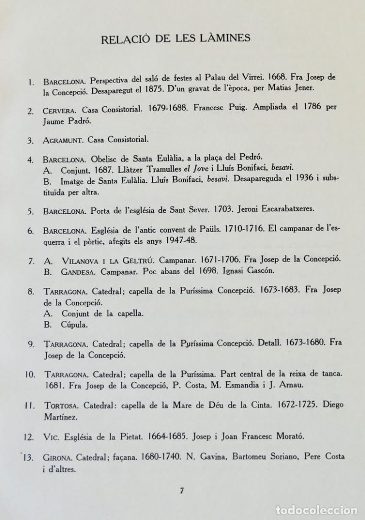 Libros de segunda mano: ARQUITECTURA I ESCULTURA BARROQUES A CATALUNYA - CÈSAR MARTINELL - 3 VOL- EXEM.469-1959/61/63 - Foto 18 - 235130375