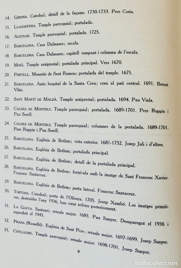 Libros de segunda mano: ARQUITECTURA I ESCULTURA BARROQUES A CATALUNYA - CÈSAR MARTINELL - 3 VOL- EXEM.469-1959/61/63 - Foto 19 - 235130375
