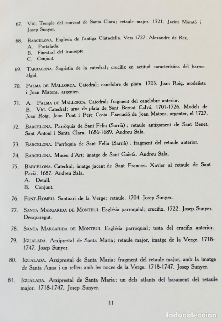 Libros de segunda mano: ARQUITECTURA I ESCULTURA BARROQUES A CATALUNYA - CÈSAR MARTINELL - 3 VOL- EXEM.469-1959/61/63 - Foto 22 - 235130375
