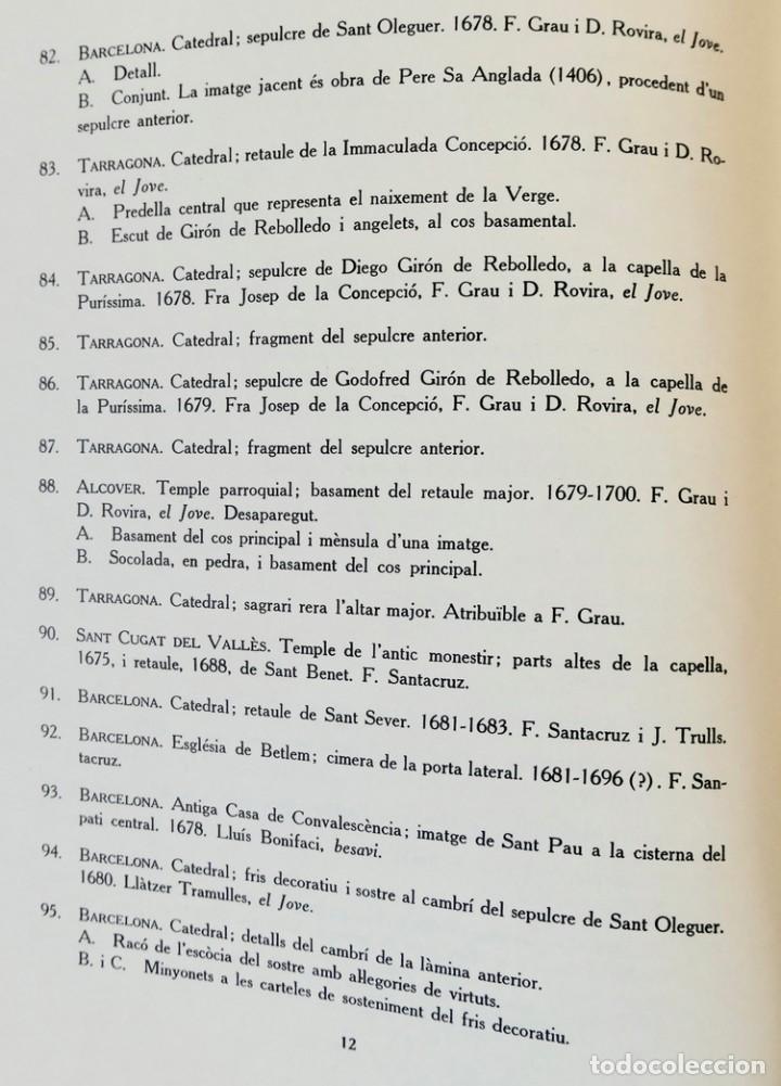 Libros de segunda mano: ARQUITECTURA I ESCULTURA BARROQUES A CATALUNYA - CÈSAR MARTINELL - 3 VOL- EXEM.469-1959/61/63 - Foto 23 - 235130375