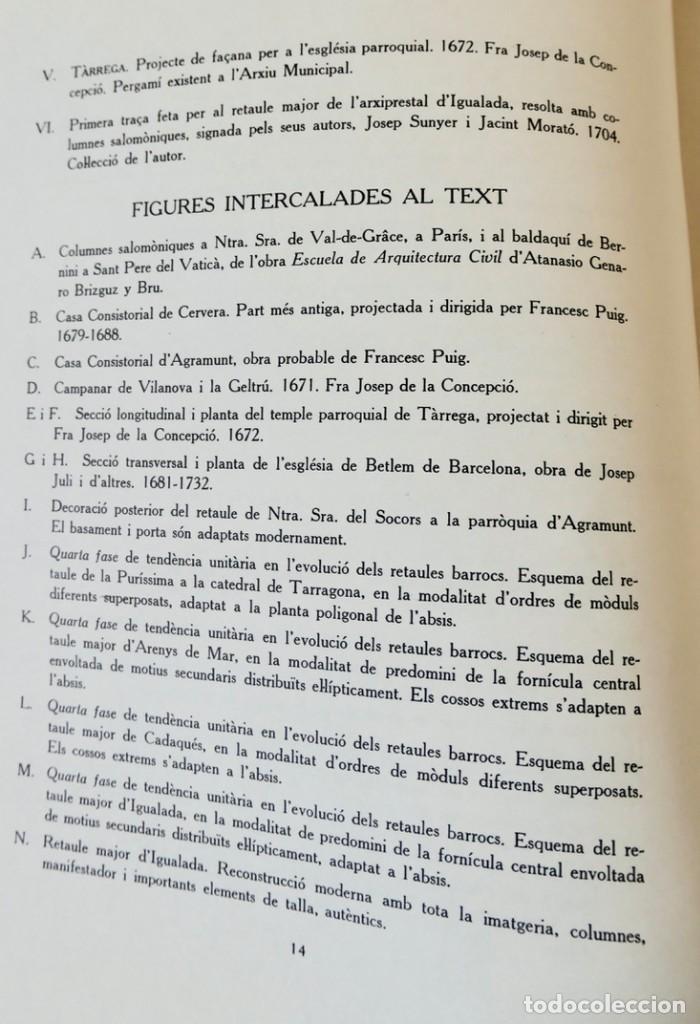 Libros de segunda mano: ARQUITECTURA I ESCULTURA BARROQUES A CATALUNYA - CÈSAR MARTINELL - 3 VOL- EXEM.469-1959/61/63 - Foto 25 - 235130375
