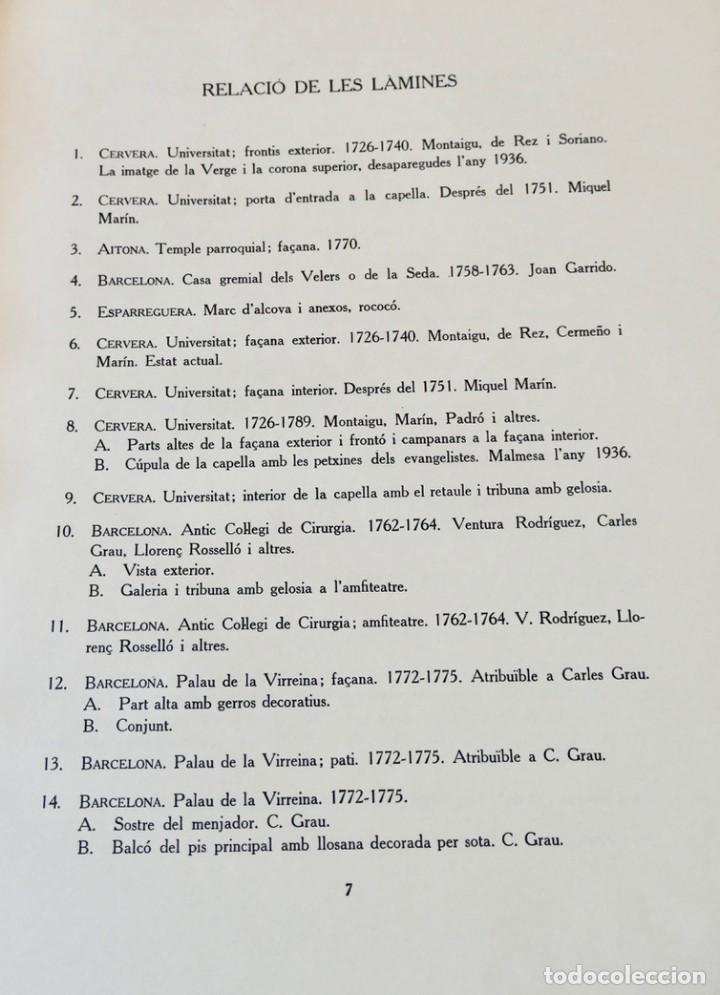 Libros de segunda mano: ARQUITECTURA I ESCULTURA BARROQUES A CATALUNYA - CÈSAR MARTINELL - 3 VOL- EXEM.469-1959/61/63 - Foto 32 - 235130375
