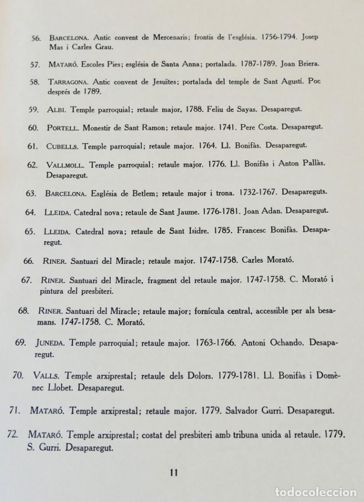 Libros de segunda mano: ARQUITECTURA I ESCULTURA BARROQUES A CATALUNYA - CÈSAR MARTINELL - 3 VOL- EXEM.469-1959/61/63 - Foto 36 - 235130375