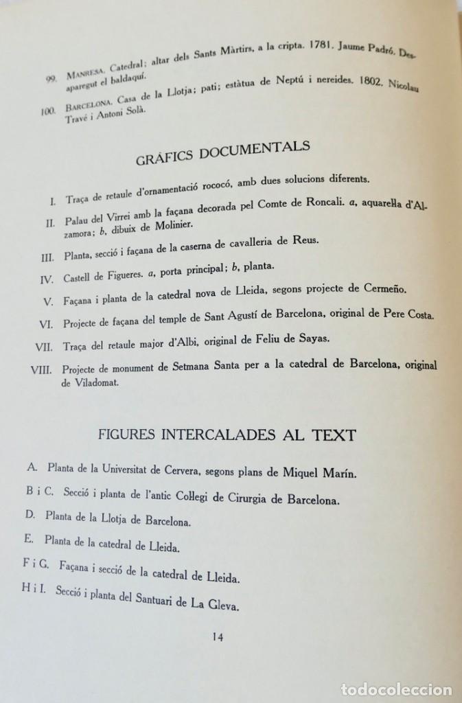 Libros de segunda mano: ARQUITECTURA I ESCULTURA BARROQUES A CATALUNYA - CÈSAR MARTINELL - 3 VOL- EXEM.469-1959/61/63 - Foto 39 - 235130375
