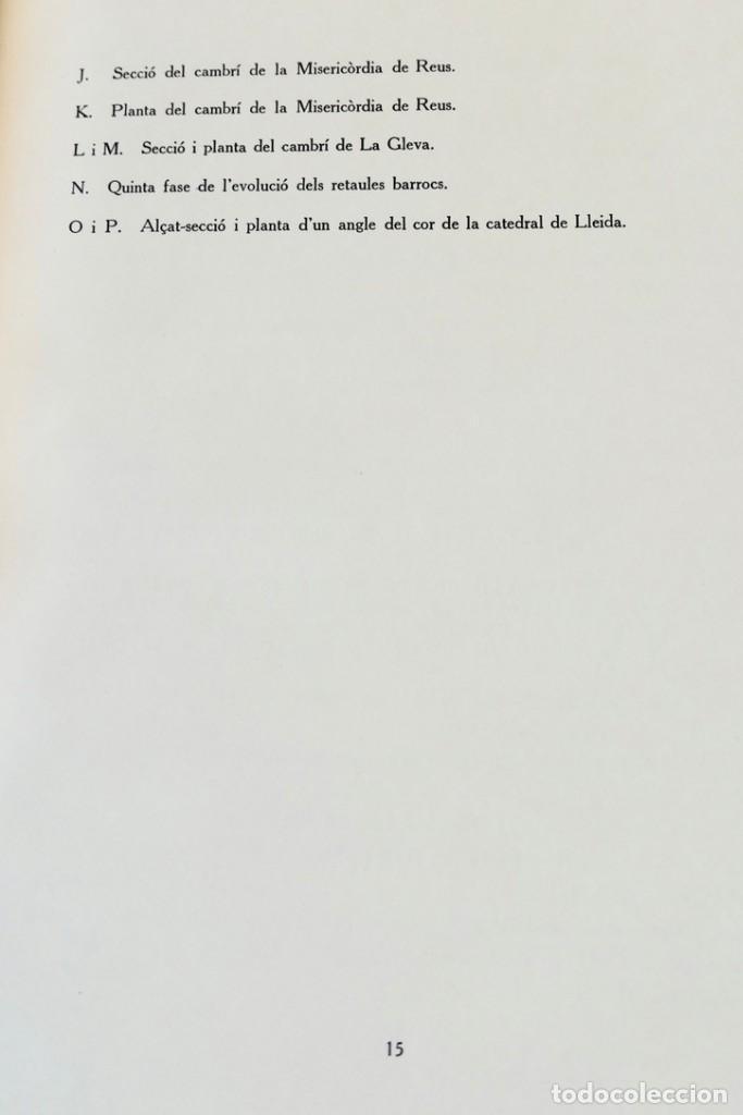 Libros de segunda mano: ARQUITECTURA I ESCULTURA BARROQUES A CATALUNYA - CÈSAR MARTINELL - 3 VOL- EXEM.469-1959/61/63 - Foto 40 - 235130375