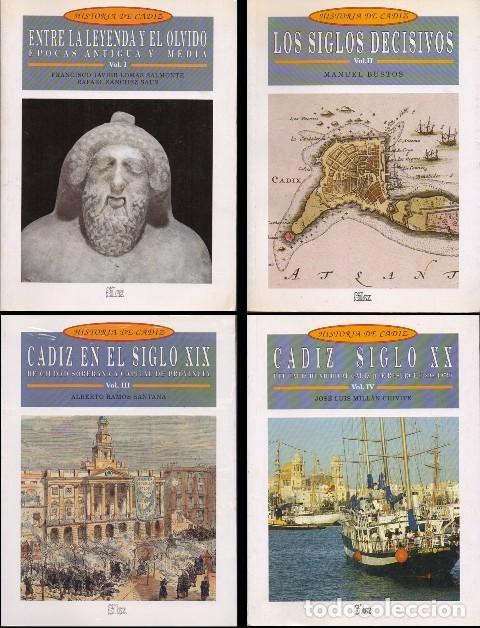 HISTORIA DE CADIZ - 4 TOMOS - A-CA-3045 ,2 (Libros de Segunda Mano - Historia - Otros)