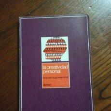 Libros de segunda mano: LA CREATIVIDAD PERSONAL- FRANÇOISE ROUGEOREILLE-LENOIR.. Lote 235357200