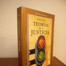 Libros de segunda mano: BRIAN BARRY: TEORÍAS DE LA JUSTICIA (GEDISA, 2001) COMO NUEVO. Lote 235565950