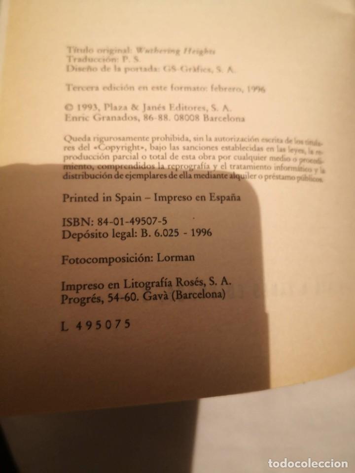 Libros de segunda mano: CUMBRES BORRASCOSAS, de Emily Bronte - Foto 3 - 235602050