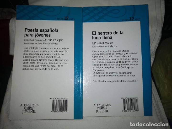 """Libros de segunda mano: """"POESÍA ESPAÑOLA PARA JÓVENES"""" de varios autores Y """"EL HERRERO DE LA LUNA"""", de Mª Isabel Molina - Foto 2 - 235609100"""