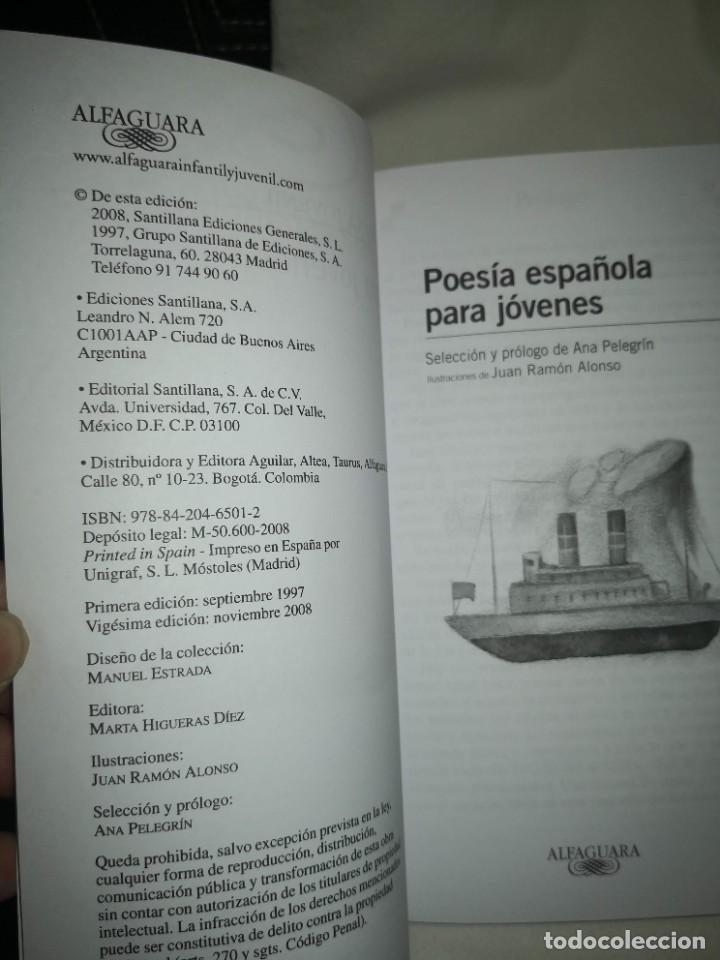 """Libros de segunda mano: """"POESÍA ESPAÑOLA PARA JÓVENES"""" de varios autores Y """"EL HERRERO DE LA LUNA"""", de Mª Isabel Molina - Foto 4 - 235609100"""