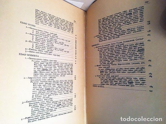 Libros de segunda mano: Bibliografía de arte español y americano (1936-1940) Periodo Repúbl y Guerra Civil. (López Serrano - Foto 4 - 235698150