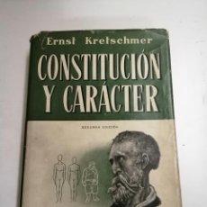 Libros de segunda mano: CONSTITUCIÓN Y CARÁCTER. ERNST KRETSCHMER. 1954 BARCELONA, MADRID, BUENOS AIRES... ED.: LABOR. Lote 235736180