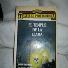Libri di seconda mano: EL TEMPLO DE LA LLAMA. LIBRO TÚ ERES EL PROTAGONISTA DAVE MORRIS Y OLIVER JOHNSON. Lote 236058350