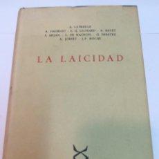 Libros de segunda mano: VV.AA LA LAICIDAD SA2446. Lote 236098740